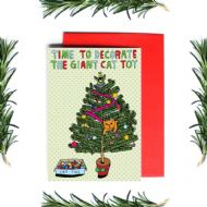 Anna Blandford 'Giant Cat Toy' Christmas Card